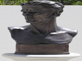 Adam Lindsay Gordon Bronze Bust - Accommodation in Bendigo