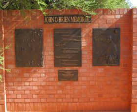 John OBrien Commemorative Wall - Accommodation in Bendigo