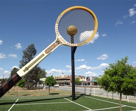 Barellans Big Tennis Racquet - Accommodation in Bendigo