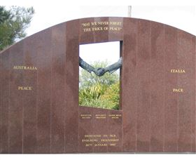 Cowra Italy Friendship Monument - Accommodation in Bendigo